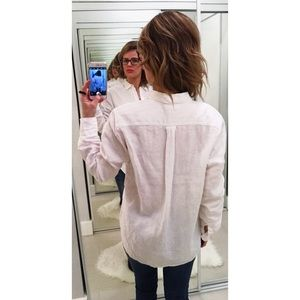 57e7eeb75b1 Everlane Tops - Everlane White The Relaxed Linen Shirt